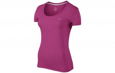 Nike maillot dri fit contour rose femme s
