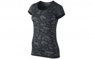 Nike maillot dri fit knit contrast noir femme m