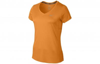 Nike maillot miler jaune femme s