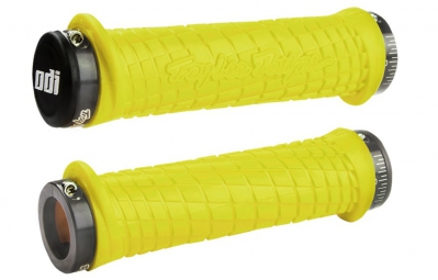 ODI Troy Lee Lock-On Grips - Yellow