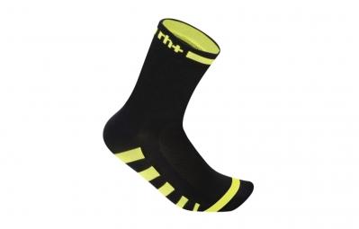 zero rh paire de chaussettes ergo 13 noir jaune 37 41