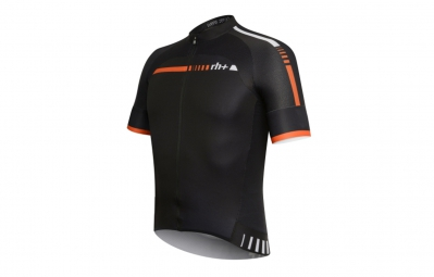 zero rh maillot hexagon fz noir blanc orange m