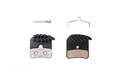 paire de plaquettes organiques shimano ice tech h01a pour saint m820 zee m640