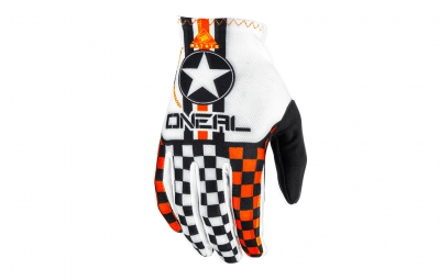 ONEAL Gants MATRIX WINGMAN Blanc Orange