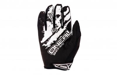 oneal 2016 paire de gants shocker noir blanc s