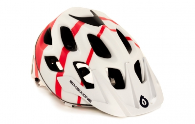 casque 661 sixsixone recon strycker blanc rouge l xl 59 61 cm