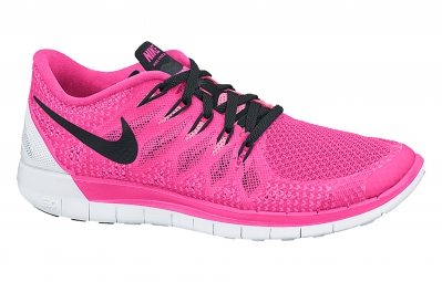 NIKE Chaussures FREE 5.0 Rose Blanc Femme