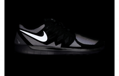NIKE Chaussures FREE 5.0 FLASH Noir Argent Homme