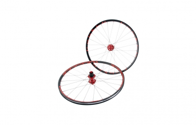MSC 2015 Wheelset 26'' 395 ULTRALIGHT Disc 9mm Axles Front and Rear Black