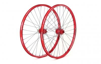 MSC 2015 Wheelset 26'' TRANSFORMER II FR Disc 15/20mm Front 9mm/12x142mm Rear Red