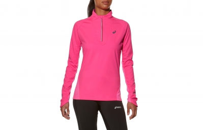 Asics maillot manches longues windblock rose femme l