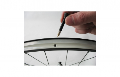VAR Kit 2 Valves Tubeless Aluminium 35 mm Noir