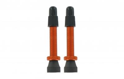 VAR Kit 2 Valves Tubeless Aluminium 35 mm Orange