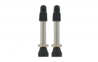 var kit 2 valves tubeless laiton 35 mm argent