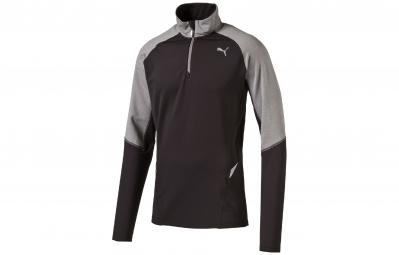 PUMA Tee-Shirt ML 1/2 Zip Homme NightCat Noir