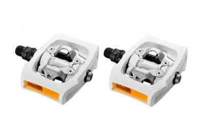 shimano paire de pedales clickr t400 blanc