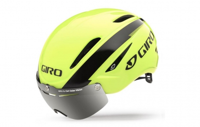 casque giro air attack shield jaune fluo noir m 54 58 cm