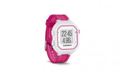 Montre GPS Garmin Forerunner 25 HRM Blanc / Rose