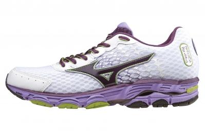 mizuno wave inspire 11 blanc violet femme 40 1 2