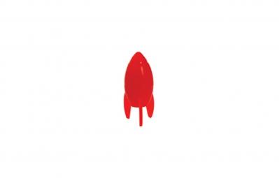 TRIKTOPZ Bouchons de Valves X 2 Fusée Rouge