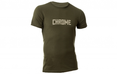 CHROME Tshirt TEXT Kaki