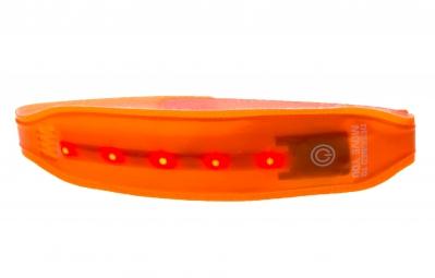WOWOW Brassard réfléchissant avec LED Orange