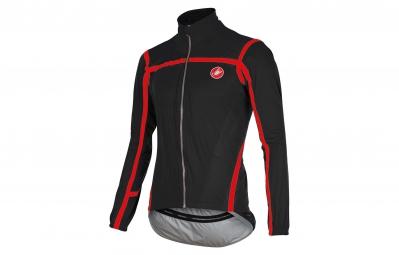 castelli veste pave jacket noir rouge m