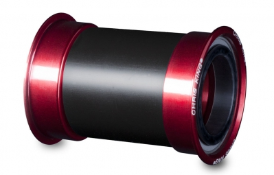 chris king boitier press fit pf30mm acier 68 73mm rouge