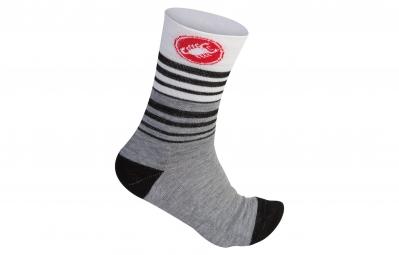 castelli paire de chaussettes righina 13 gris 37 39