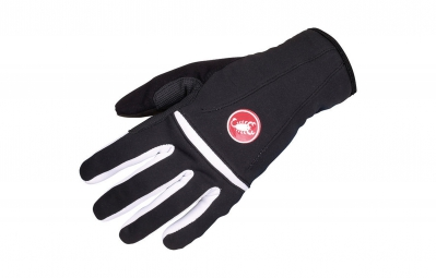 castelli gants femme cromo glove noir blanc m