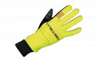 castelli gants gara midweight glove jaune fluo l