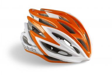 casque spiuk dharma orange blanc l 53 61 cm