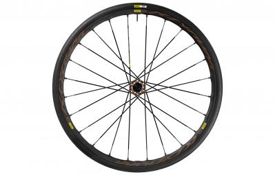 mavic 2017 roue avant ksyrium pro disc allroad 6tr pneu yksion elite 28 mm