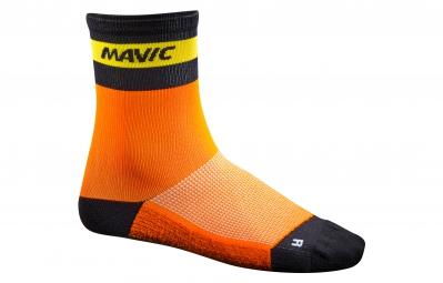 mavic 2016 paire de chaussettes ksyrium carbon orange x 35 38