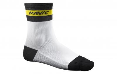 mavic 2016 paire de chaussettes ksyrium carbon blanc 35 38