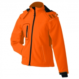 James et nicholson veste softshell hiver femme jn1001 orange