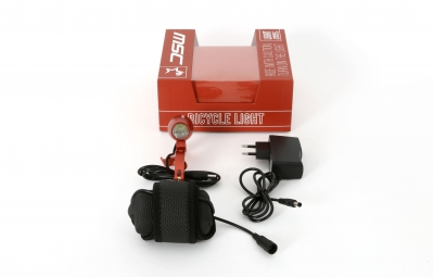 msc bikes lampe avant 1000 lumens rouge
