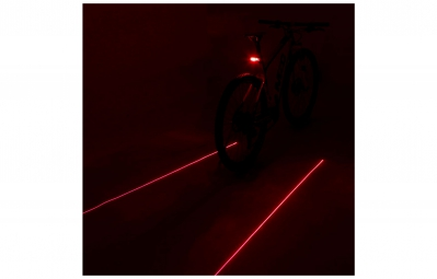 msc bikes eclairage arriere laser led 10000 12000mcd noir
