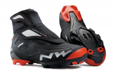 paire de chaussures northwave celsius 2 gtx black red 41