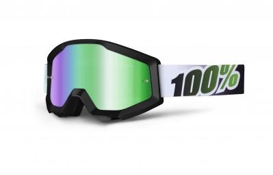 100 masque strata noir ecran vert iridium adulte