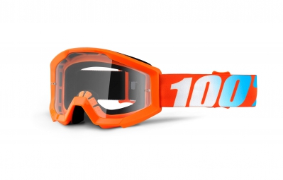 Goggles 100% STRATA clear orange