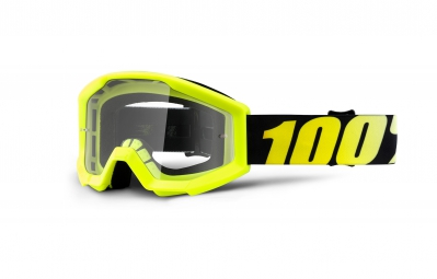 100% Goggle STRATA Yellow Clear Lense