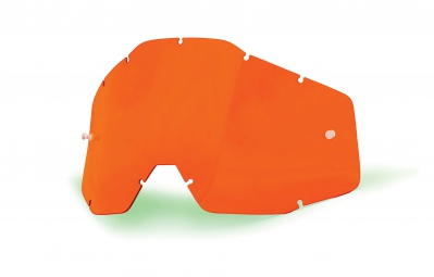 100% Orange Lense anti fog RACECRAFT, ACCURI and STRATA