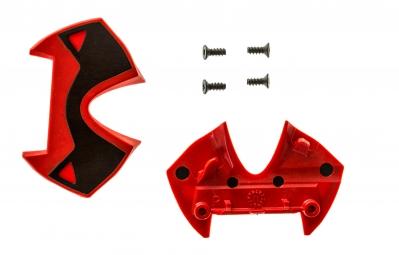 paire de plaques alu time pour pedales x presso rouge