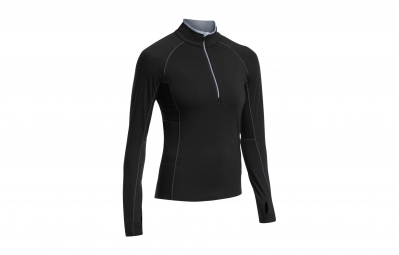 ICEBREAKER Maillot Manches Longues Femme ZONE LS HALF ZIP Black Mineral