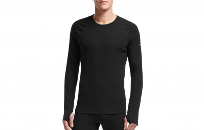 ICEBREAKER Maillot Manches Longues Homme ZONE LS CREWE Black Monsoon