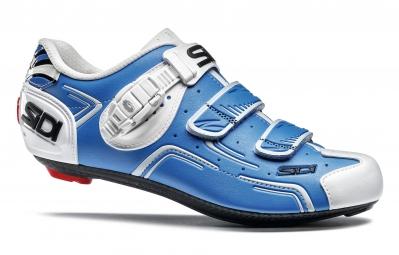 chaussures route sidi level bleu blanc 45