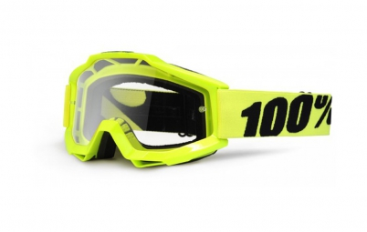 100 masque accuri jaune fluo ecran transparent adulte