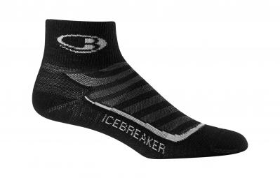 icebreaker chaussettes femme run ultra light mini noir 35 37