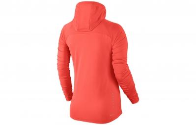 NIKE Sweat à capuche ELEMENT Orange Femme